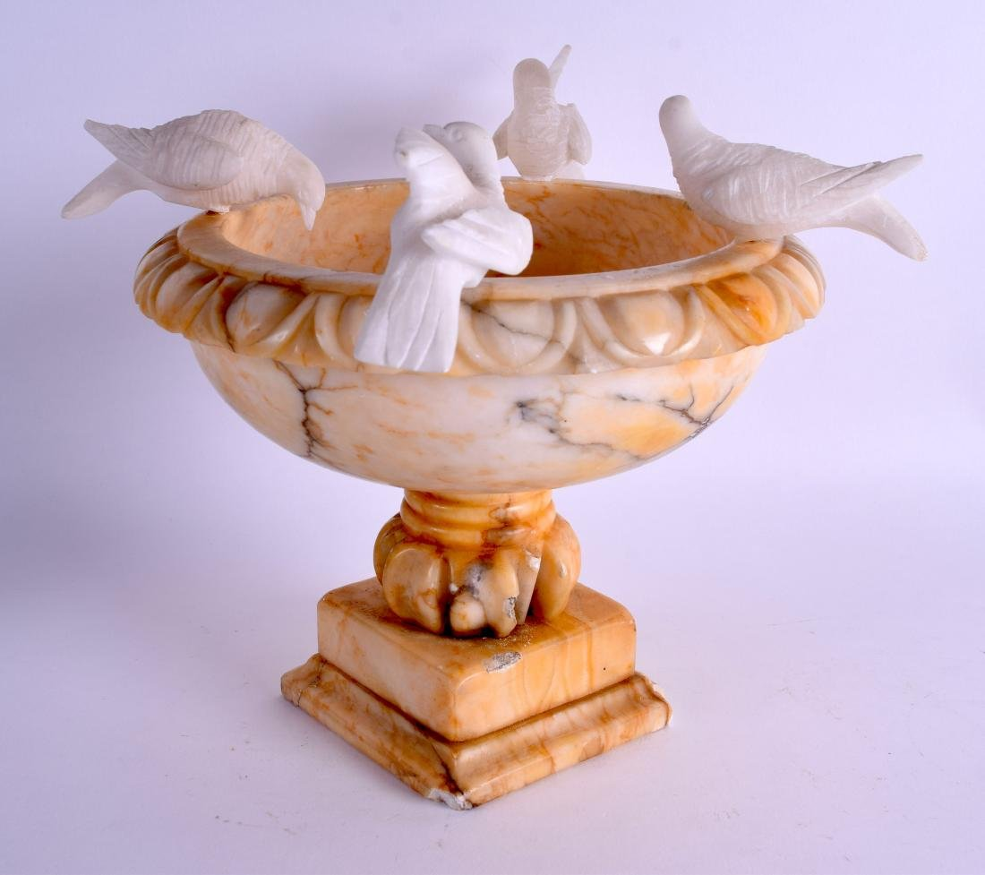 A LATE 19TH CENTURY ITALIAN GRAND TOUR CARVED ALABASTER - 3