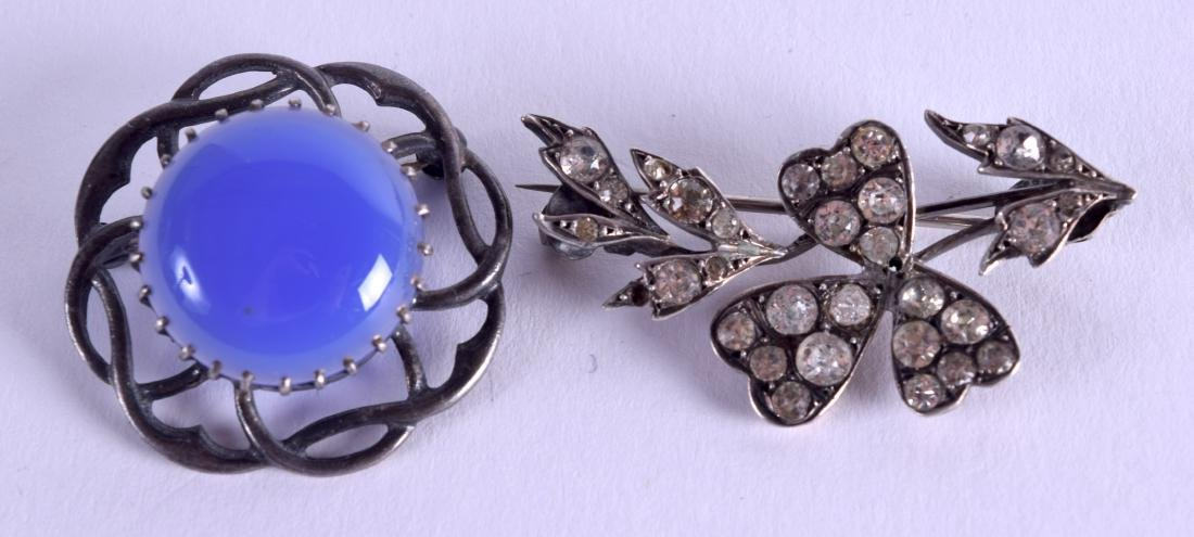 TWO SILVER PINS. (2)