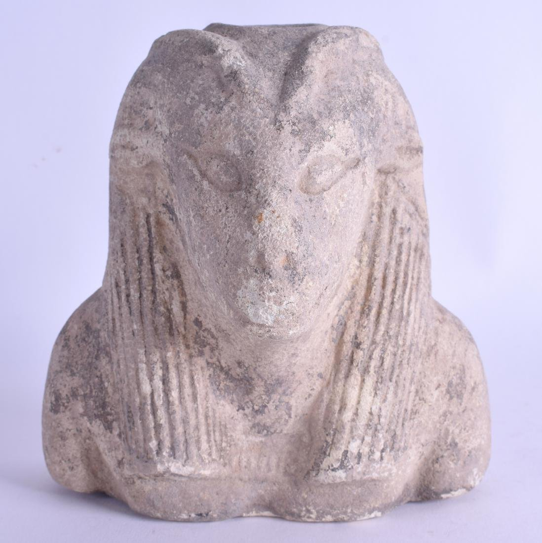 AN UNUSUAL EGYPTIAN GRAND TOUR TERRACOTTA BUST OF