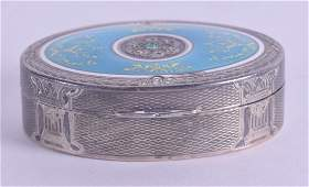 A LOVELY ANTIQUE FRENCH SILVER AND ENAMEL SNUFF BOX