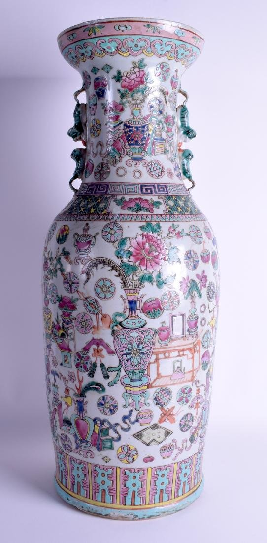 A LARGE 19TH CENTURY CHINESE FAMILLE ROSE PORCELAIN - 2