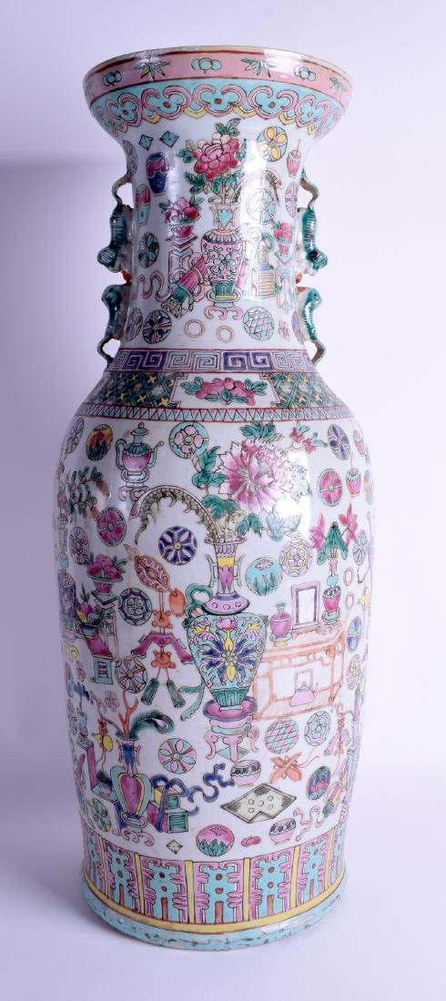A LARGE 19TH CENTURY CHINESE FAMILLE ROSE PORCELAIN - 3