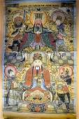 AN EARLY 20TH CENTURY CHINESE TIBETAN THANGKA entitled