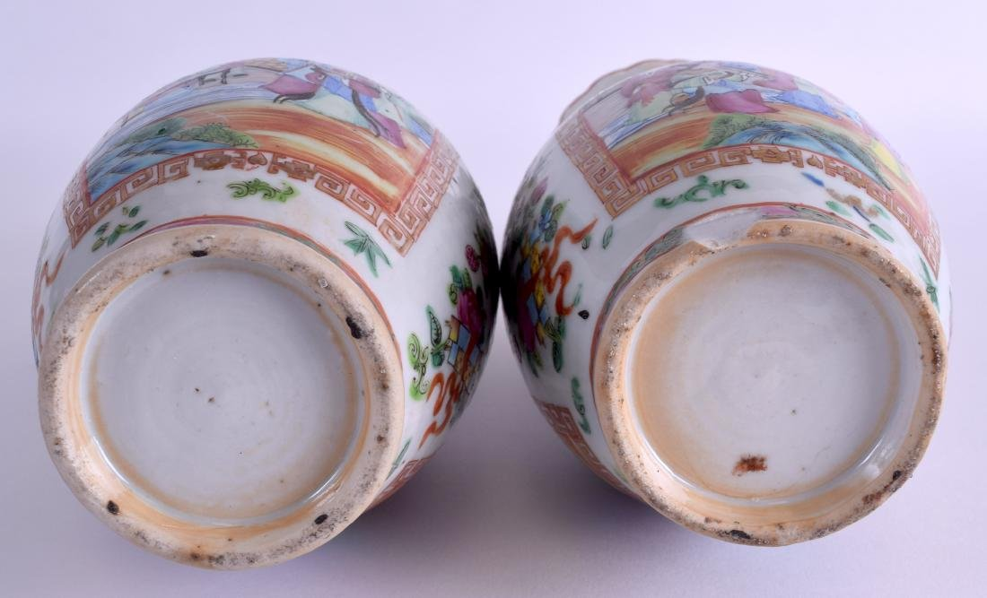 A PAIR OF 19TH CENTURY CHINESE FAMILLE ROSE VASES Qing, - 4