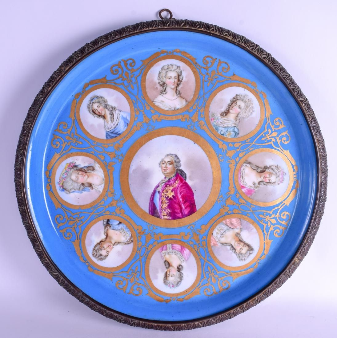 A LARGE 19TH CENTURY FRENCH SEVRES PORCELAIN WALL