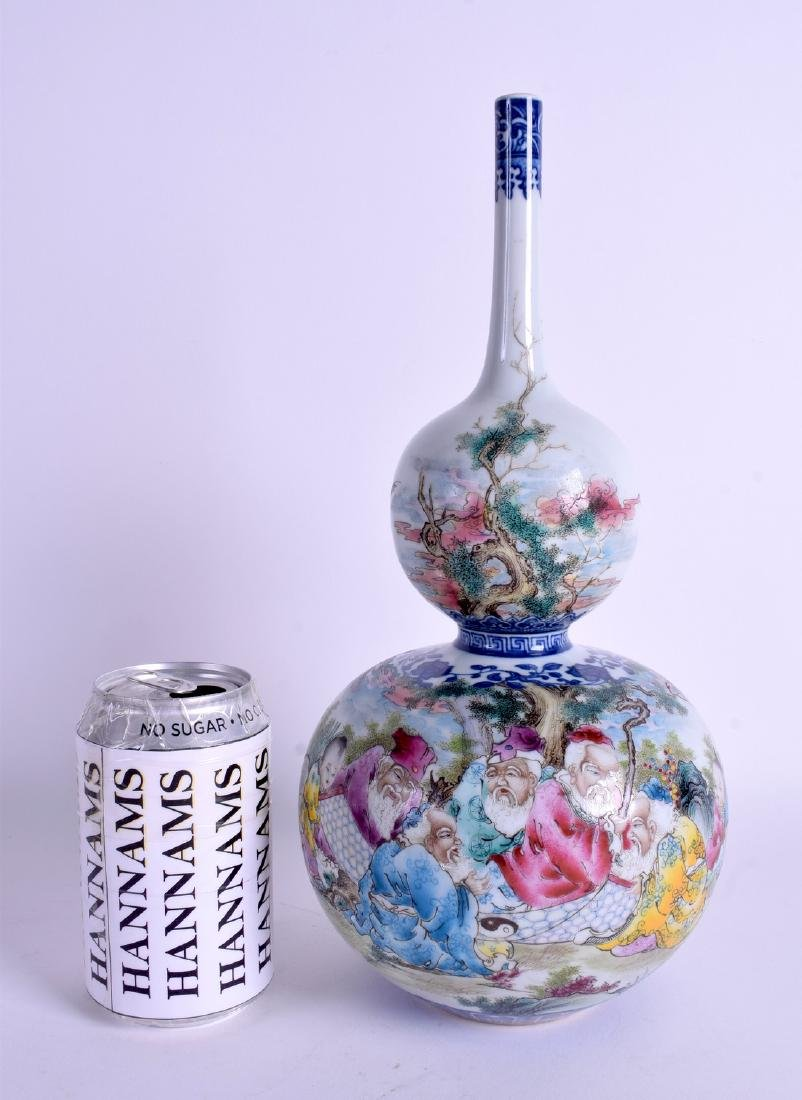 A CHINESE DOUBLE GOURD PORCELAIN VASE 20th Century,