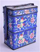 A LATE 19TH CENTURY CHINESE CANTON ENAMEL STACKING BOX