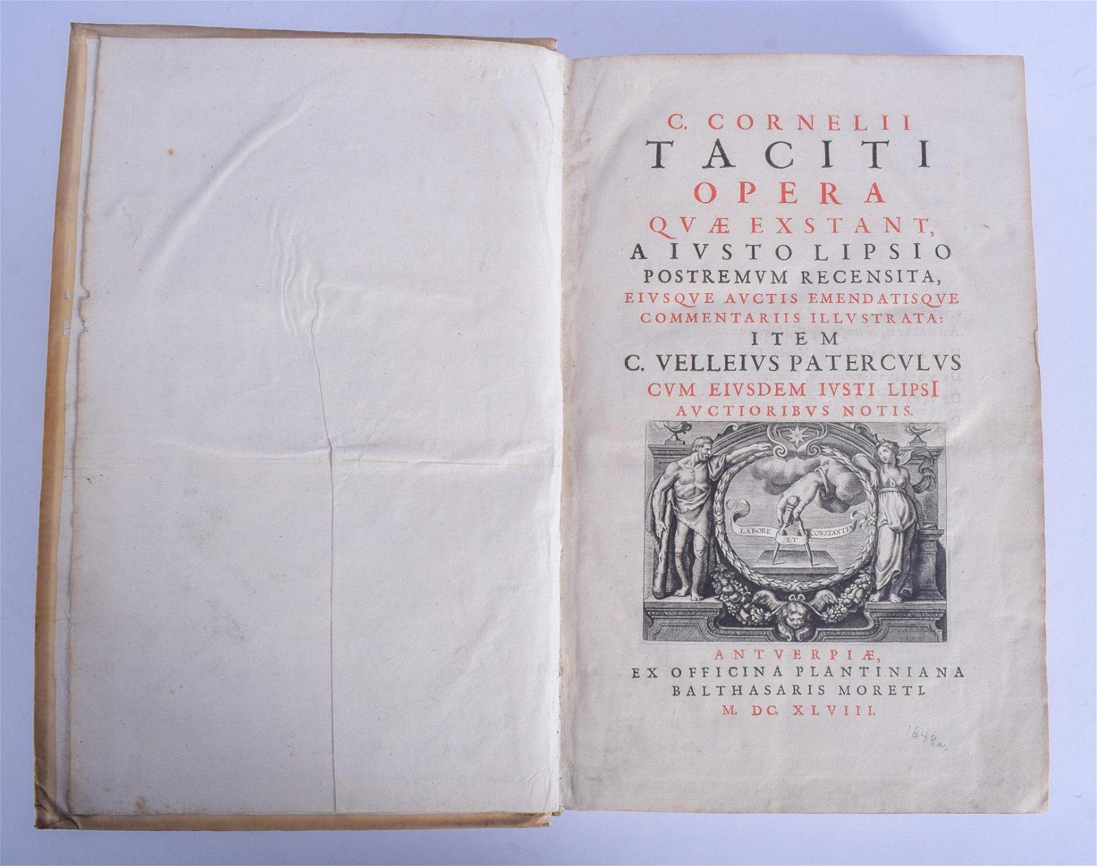C Cornell II Opera, Large Vellum bound, Ivsto Lipsio,