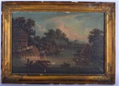 CHINESE SCHOOL (18th/19th century) FRAMED PAIR OIL ON