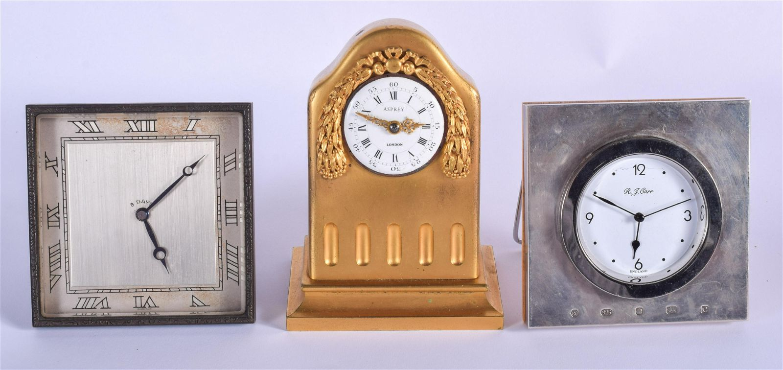 A FINE ANTIQUE ASPREYS OF LONDON GILT BRONZE CLOCK