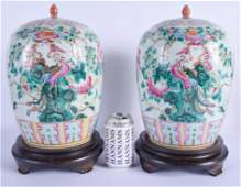 A LARGE PAIR OF EARLY 20TH CENTURY CHINESE STRAITS