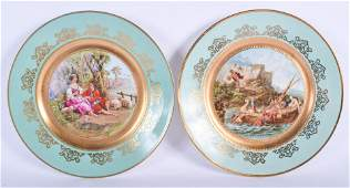 A PAIR OF EARLY 20TH CENTURY VIENNA PORCELAIN CAB