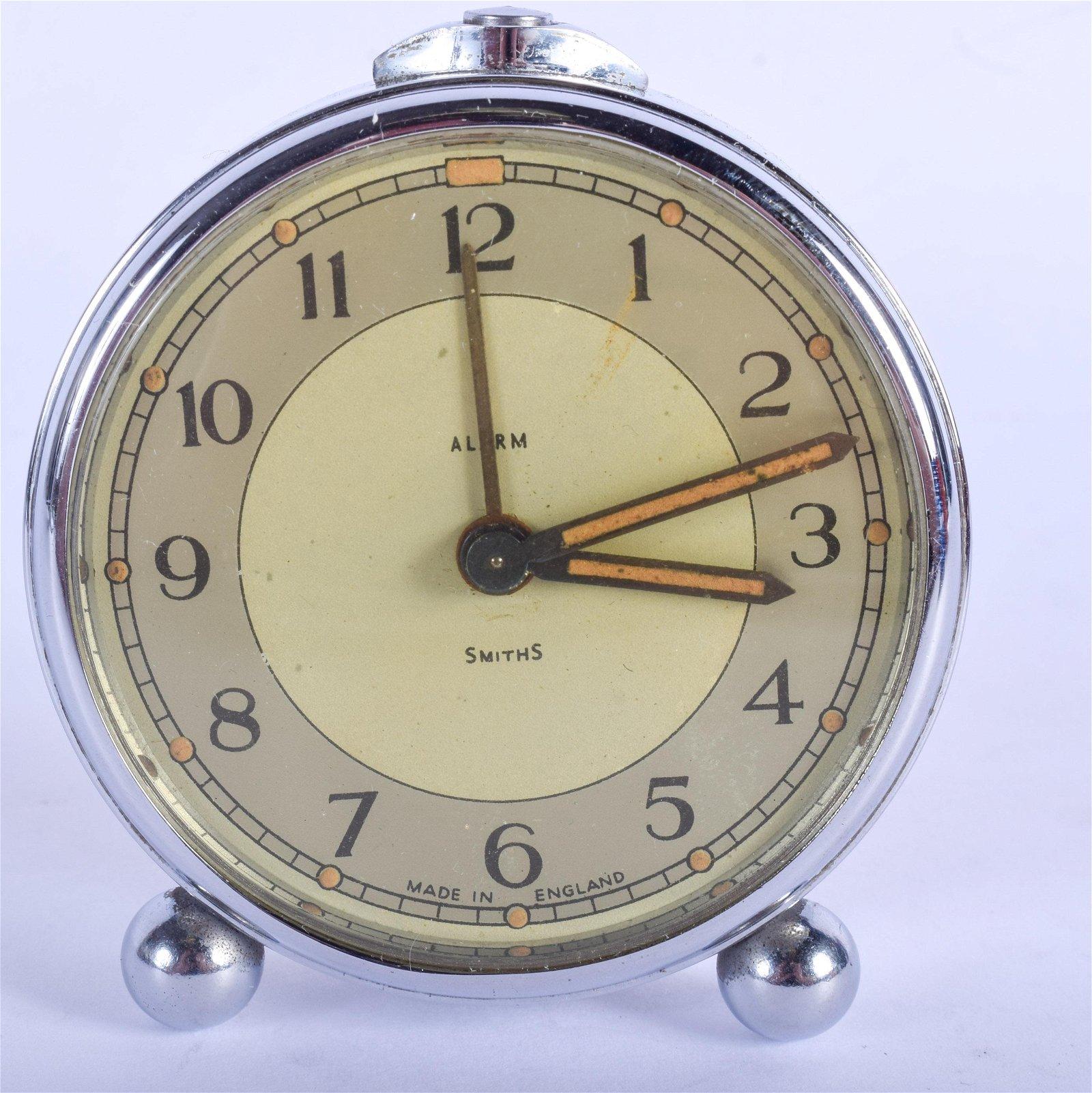 A SMITHS ALARM CLOCK. 5.5 cm wide.