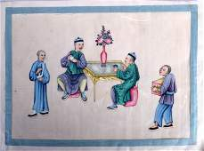A GOOD SET OF TWELVE 19TH CENTURY CHINESE PITH PAPER