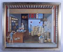 Chinese School 19th Century Oil on canvas four