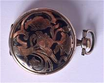 AN ANTIQUE NIELLO SILVER LONGINES POCKET WATCH. 61