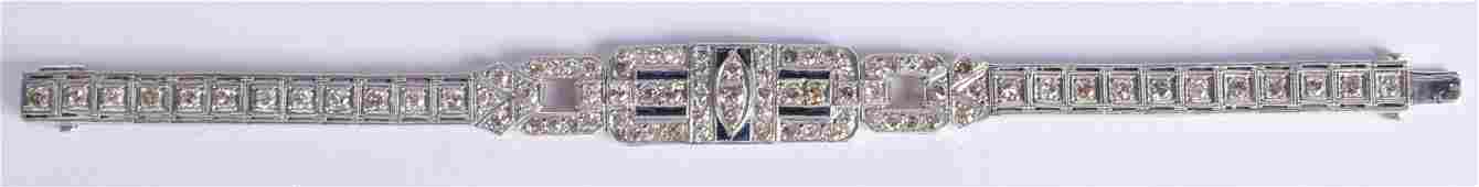 A FINE ART DECO DIAMOND AND PLATINUM BRACELET with