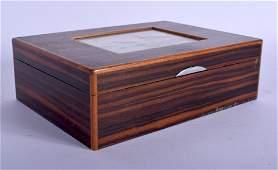 AN UNUSUAL EARLY 20TH CENTURY COROMANDEL CIGARETTE BOX