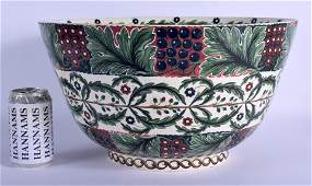 A VERY LARGE ENGLISH ARTS AND CRAFTS CIRCULAR POTTERY