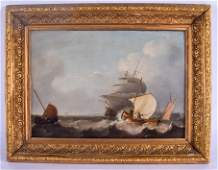 Flemish School 18th Century Oil on board Fishing and