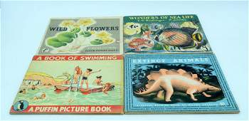 Four vintage Puffin children's educational books
