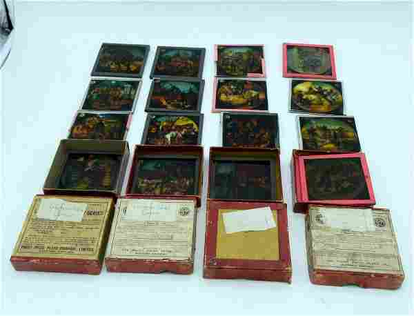 A collection of coloured magic lantern slides Medieval