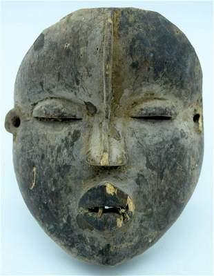 AFRICAN TRIBAL DAN MASK, IVORY COAST / LIBERIA.  23cm x
