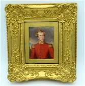 Maria Chalon (C1833) Painted bone portrait miniature,