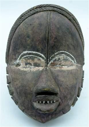 AFRICAN TRIBAL DAN MASK, IVORY COAST / LIBERIA.  30cm x
