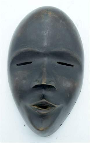 AFRICAN TRIBAL DAN MASK, IVORY COAST / LIBERIA.  22 cm