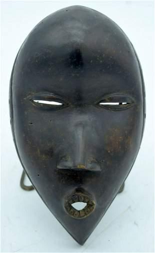 AFRICAN TRIBAL DAN MASK, IVORY COAST / LIBERIA.  256cm