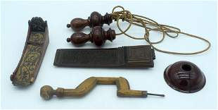 A RARE ANTIQUE SCREWDRIVER, with a skipping robe and