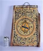 A 17TH CENTURY SPANISH FAIENCE GLAZED POTTERY TILE