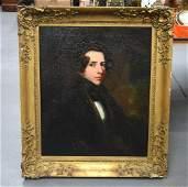 English School (19th Century) Oil on canvas, Portrait
