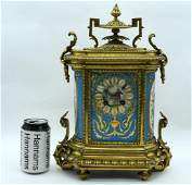 A LARGE 19TH CENTURY FRENCH GILT BRONZE SEVRES