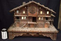 A RARE LARGE 19TH CENTURY BAVARIAN BLACK FOREST CARVED