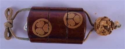 A MINIATURE 19TH CENTURY JAPANESE MEIJI PERIOD THREE