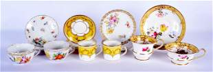 AN EARLY 19TH CENTURY ENGLISH PORCELAIN TRIO together