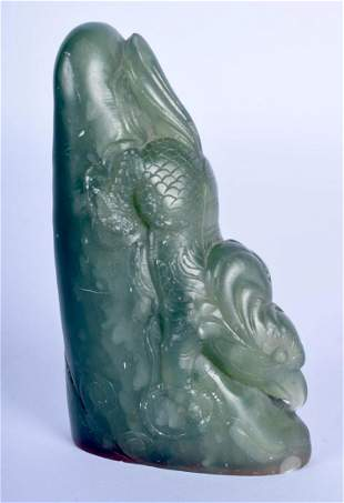 AN EARLY 20TH CENTURY CHINESE CARVED SOAPSTONE SEAL