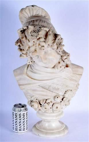 Italian School (19th Century) Marble, Female, Signed,