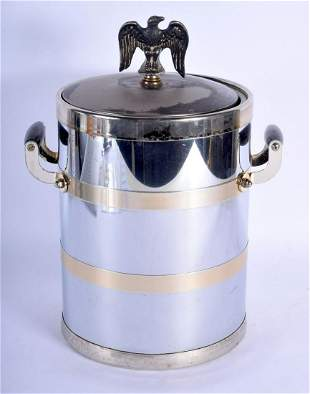 A VINTAGE CONTINENTAL EAGLE TOP SILVER PLATE ICE BUCKET