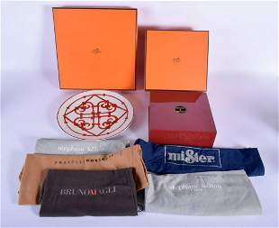 A BOXED HERMES OF PARIS PLATE together with a Hermes
