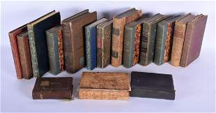 ANTIQUE LEATHER BOUND BOOKS. (qty)
