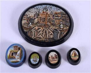 A LOVELY SET OF FIVE EARLY 19TH CENTURY ITALIAN MICRO