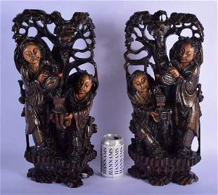 A RARE PAIR OF 19TH CENTURY CHINESE SILVER INLAID