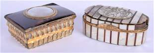 TWO 18TH CENTURY EUROPEAN SNUFF BOXES one formed from