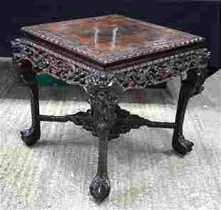 A FINE 19TH CENTURY CHINESE HONGMU HARDWOOD TABLE Qing,