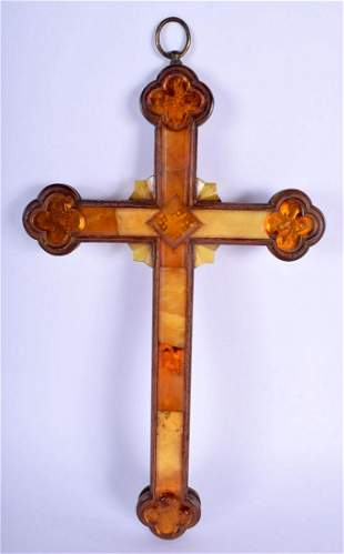 A RARE 17TH CENTURY NORTHERN GERMAN CARVED BALTIC AMBER