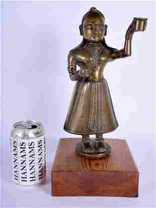 A RARE LARGE 18TH CENTURY INDIAN HINDU BUDDHISTIC