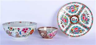 TWO 18TH CENTURY CHINESE EXPORT PORCELAIN BOWLS